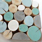 Decorative Logs - RUSTIC TEAL Colour Mix